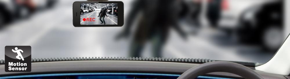 กล้องติดรถยนต์ Motion sensor ตรจจับความเคลื่อนไหว